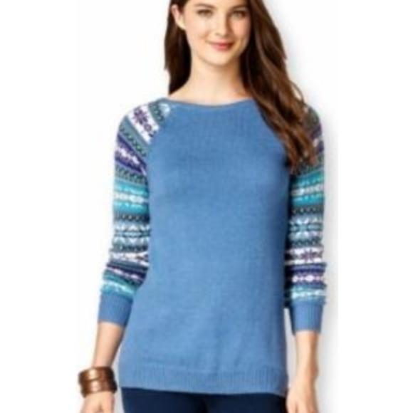 92bdbf6f1b American Living Womens sweater blue knit pullover